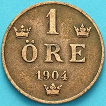 Швеция 1 эре 1904 год.