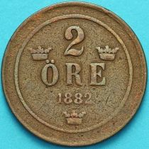 Швеция 2 эре 1883 год.