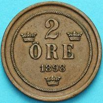 Швеция 2 эре 1898 год.