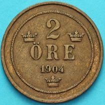 Швеция 2 эре 1904 год.
