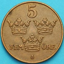Швеция 5 эре 1950 год.