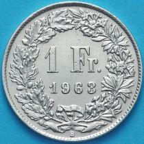 Швейцария 1 франк 1963 год. Серебро.