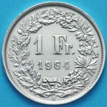 Швейцария 1 франк 1964 год. Серебро.