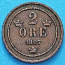 Швеция 2 эре 1897 год.