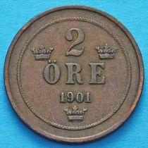 Швеция 2 эре 1901 год.