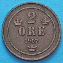 Швеция 2 эре 1907 год.