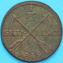 Швеция 1/2 скиллинга 1819 год. Карл XIV Юхан