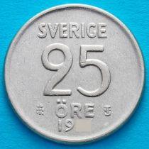 Швеция 25 эре 1953 год. Серебро. TS.