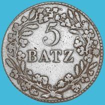 Швейцария, Кантон Во 5 батцен 1812 год. Серебро.