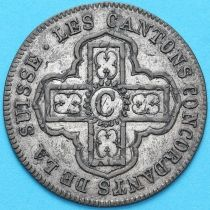 Швейцария, Кантон Во 1 батцен 1832 год. Серебро.