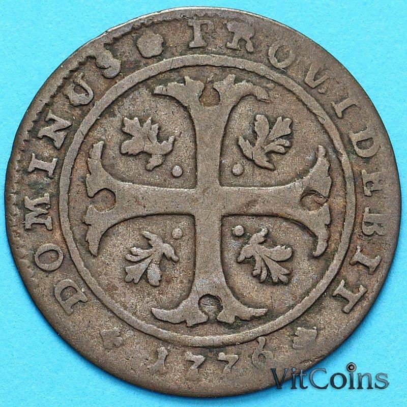 Монета Швейцария, Кантон Берн 1/2 батцена 1876 год. Серебро.