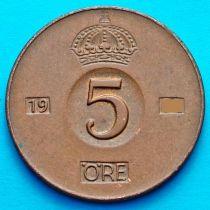 Швеция 5 эре 1954 год