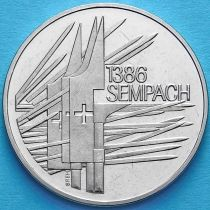 Швейцария 5 франков 1986 год. Битва при Земпахе.