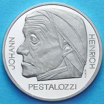Швейцария 5 франков 1977 год. Иоганн Генрих Песталоцци. Пруф.