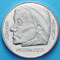 Швейцария 5 франков 1977 год. Иоганн Генрих Песталоцци.