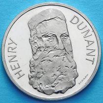 Швейцария 5 франков 1978 год. Анри Дюнан. Пруф.