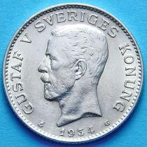 Швеция 1 крона 1934 год. Серебро