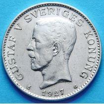 Швеция 1 крона 1927 г. Серебро