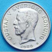 Швеция 1 крона 1930 г. Серебро