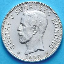 Швеция 2 кроны 1930 г. Серебро