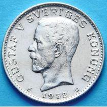 Швеция 1 крона 1932 г. Серебро