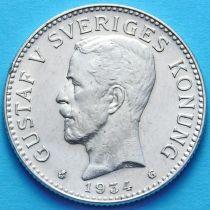Швеция 2 кроны 1934 г. Серебро