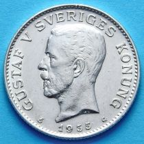Швеция 1 крона 1935 г. Серебро