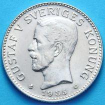 Швеция 2 кроны 1935 г. Серебро