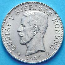 Швеция 2 кроны 1937 г. Серебро