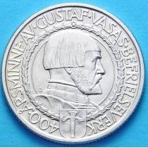 Швеция 2 кроны 1921 год. Серебро.