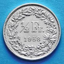 Швейцария 1/2 франка 1943-1965 год. Серебро.