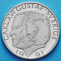 Швеция 1 крона 1991 год.
