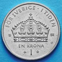 Швеция 1 крона 2002-2008 год.