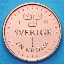 Швеция 1 крона 2016 год.