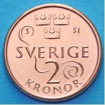 Швеция 2 кроны 2016 год.