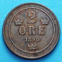Швеция 2 эре 1890 год.