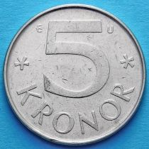 Швеция 5 крон 1981-1983 год.