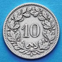 Швейцария 10 раппен 1906 год.