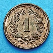 Швейцария 1 раппен 1937 год.
