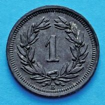 Швейцария 1 раппен 1942-1946 год.