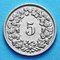 Швейцария 5 раппен 1939 год.