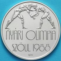 Венгрия 500 форинтов 1987 год. Олимпиада, борьба. Серебро.