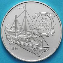Венгрия 500 форинтов 1993 год. Пароход «Arpad». Серебро.