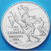 Венгрия 500 форинтов 1984 год. Олимпиада, лыжи. Серебро.