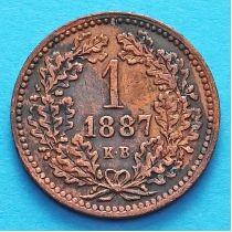 Венгрия 1 крейцер 1887 год.