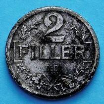 Венгрия 2 филлера 1918 год.