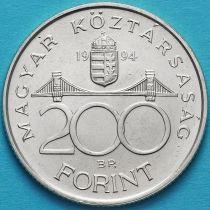 Венгрия 200 форинтов 1994 год. Дьек Ференц. Серебро.