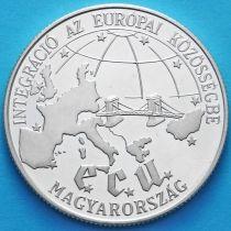 Венгрия 500 форинтов 1993 год. Евросоюз. Серебро.