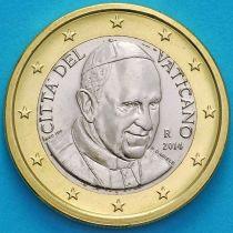 Ватикан 1 евро 2014 год.