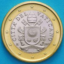 Ватикан 1 евро 2017 год.